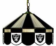 "Oakland Raiders NFL Team 16"" Diameter Stained Glass Pub Light"