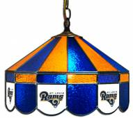 "Los Angeles Rams NFL Team 16"" Diameter Stained Glass Pub Light"