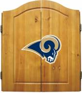 St. Louis Rams NFL Complete Dart Board Cabinet Set (w/darts & flights)