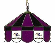 "Baltimore Ravens NFL Team 16"" Diameter Stained Glass Pub Light"