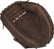 "Rawlings Player Preferred 33"" Baseball/Softball Catcher's Mitt - Right Hand Throw - Black/Orange"