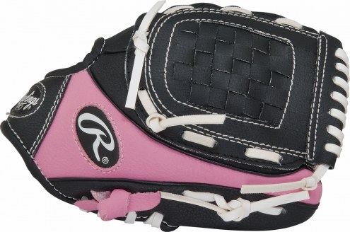 """Rawlings Players Series 9"""" Youth Pink Tee Ball Glove with Ball - Left Hand Throw"""