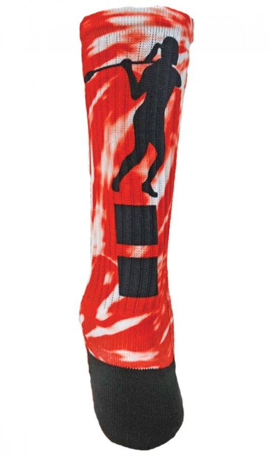 Red Lion #14 Women's Lacrosse Sublimated Crew Socks