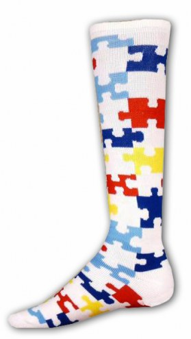 Red Lion Adult Puzzle Autism Awareness Socks