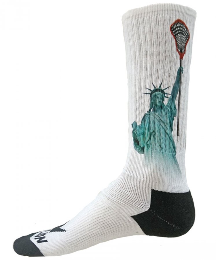 Red Lion Lax Liberty Sublimated Crew Socks