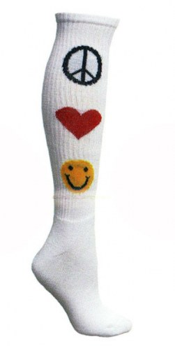 Red Lion Peace, Love & Happiness Adult Socks - Size 9-11