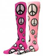 Red Lion Peace Sign Socks
