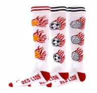 Red Lion White Heat Adult Soccer Socks