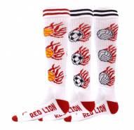 Red Lion White Heat Youth Soccer Socks