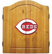 Cincinnati Reds MLB Complete Dart Board Cabinet Set (w/ darts & flights)
