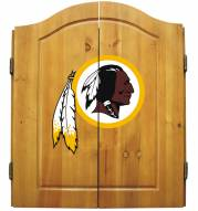 Washington Redskins NFL Complete Dart Board Cabinet Set (w/darts & flights)