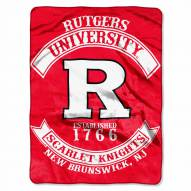 Rutgers Scarlet Knights Rebel Raschel Throw Blanket