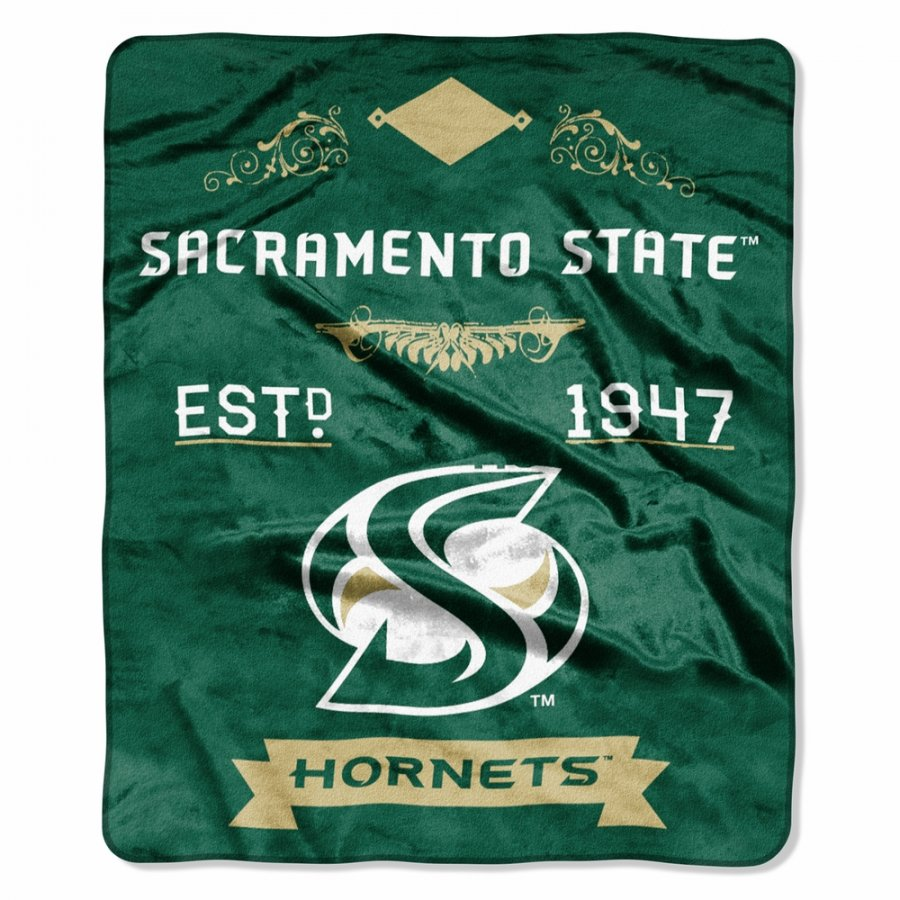 Sacramento State Hornets Label Raschel Throw Blanket