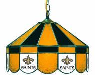 "New Orleans Saints NFL Team 16"" Diameter Stained Glass Pub Light"