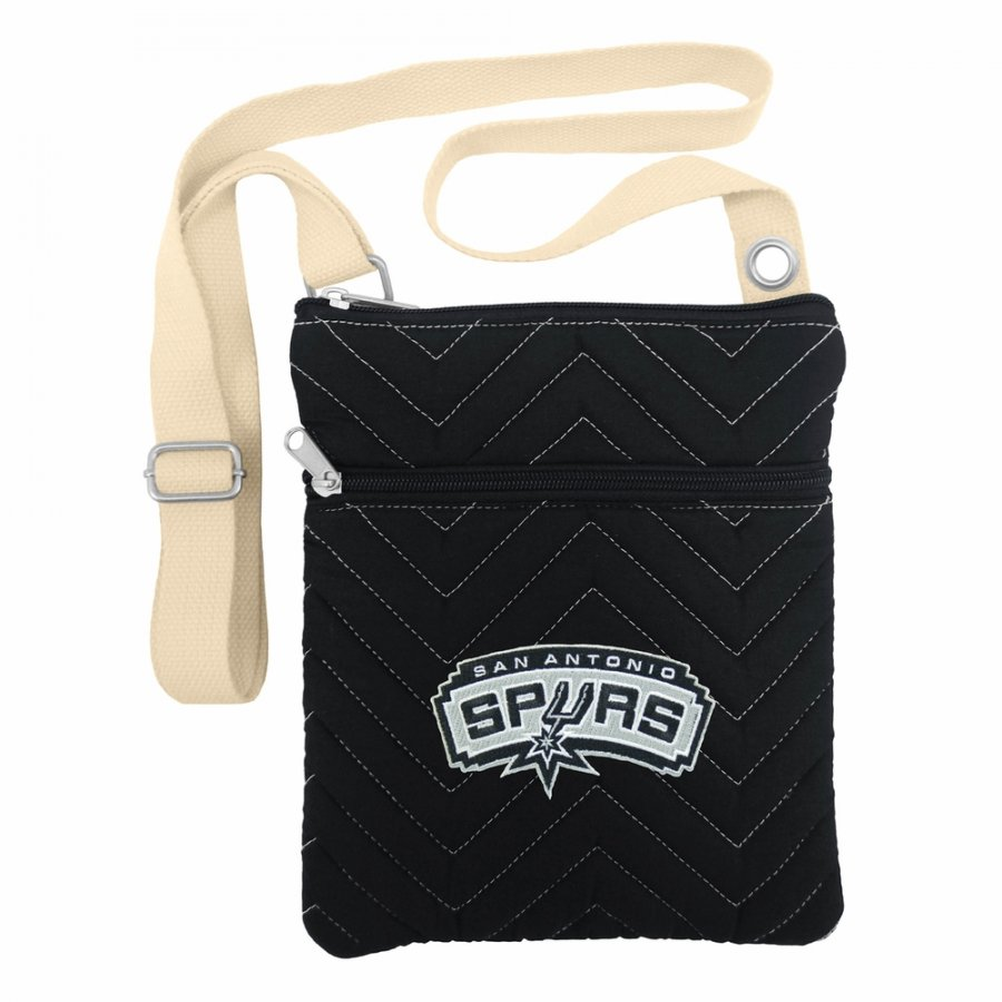 San Antonio Spurs Chevron Stitch Crossbody Bag
