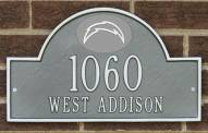 San Diego Chargers NFL Personalized Address Plaque - Pewter Silver