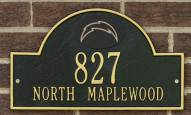 San Diego Chargers NFL Personalized Address Plaque - Black Gold