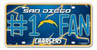 San Diego Chargers #1 Fan License Plate