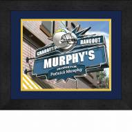 San Diego Chargers 13 x 16 Personalized Framed Sports Pub Print