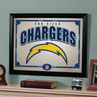 """San Diego Chargers 23"""" x 18"""" Mirror"""