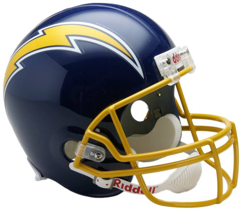 San Diego Chargers 74 87 Riddell Vsr4 Replica Full Size