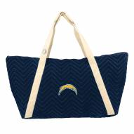 San Diego Chargers Chevron Stitch Weekender Bag