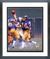 San Diego Chargers Dan Fouts 1974 Action Framed Photo