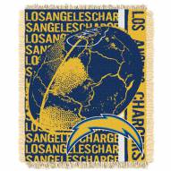 San Diego Chargers Double Play Jacquard Throw Blanket
