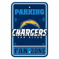 San Diego Chargers Fan Zone Parking Sign
