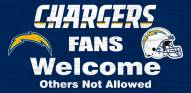 San Diego Chargers Fans Welcome Wood Sign