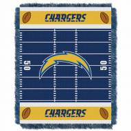San Diego Chargers Field Baby Blanket