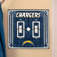 San Diego Chargers Glass Double Switch Plate Cover