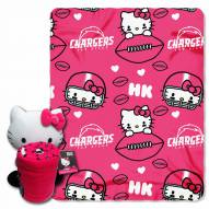 San Diego Chargers Hello Kitty Blanket & Pillow