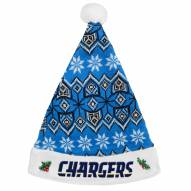 San Diego Chargers Knit Santa Hat
