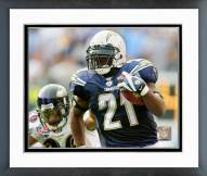 San Diego Chargers LaDainian Tomlinson 10,000 Rushing Yards 2007 Framed Photo