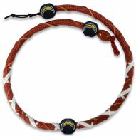 San Diego Chargers Leather Football Necklace