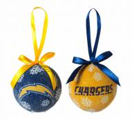 San Diego Chargers LED Boxed Ornament Set