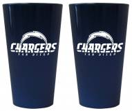 San Diego Chargers Lusterware Pint Glass - Set of 2