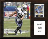 """San Diego Chargers Manti Te'o 12"""" x 15"""" Player Plaque"""