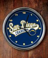 San Diego Chargers NFL Chrome Wall Clock