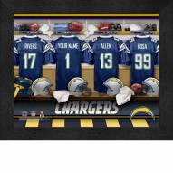 San Diego Chargers NFL Personalized Locker Room 11 x 14 Framed Photograph