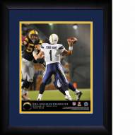 San Diego Chargers Personalized 13 x 16 NFL Action QB Framed Print