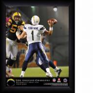 San Diego Chargers Personalized NFL Action QB Framed Print