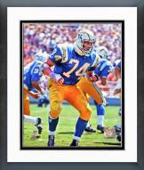 San Diego Chargers Ron Mix 1967 Action Framed Photo