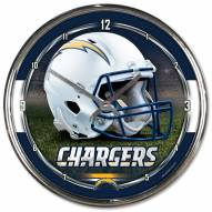 San Diego Chargers Round Chrome Wall Clock