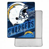 San Diego Chargers Sherpa Foot Pocket Blanket