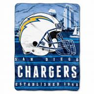 San Diego Chargers Silk Touch Stacked Blanket