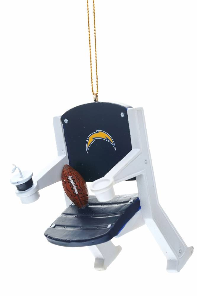 San Diego Chargers Stadium Chair Tree Ornament