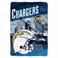 San Diego Chargers Stagger Raschel Blanket