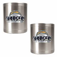 San Diego Chargers Stainless Steel Can Coozie Set